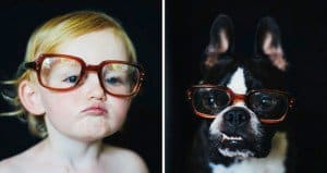 Photographer Takes Pics Of Her Child And Dog In The Same Setting