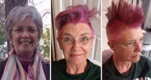 Pink Mohawk Hair Before Chemotherapy
