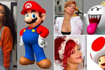 Rihanna Super Mario Comparisons