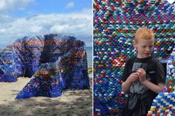 Sculpture Made Out Of Bottle Caps