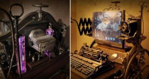 Steampunk Computer Workstation