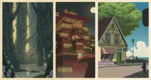 Studio Ghibli Japanese Wood-Cut Prints