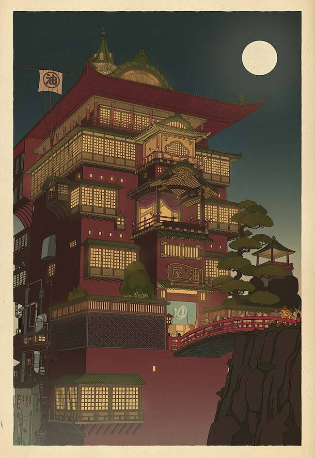 Studio Ghibli Posters Reimagined As Traditional Japanese