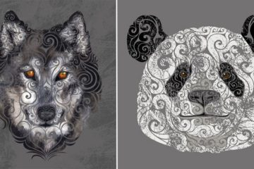 Swirly Animal Illustrations