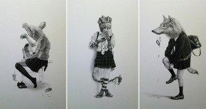 Takumi Kama Schoolgirl Animals