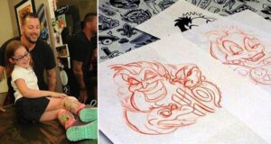 Tattoo Artist Customize 8 Year Olds Leg Braces Disney Style