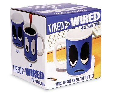 Tired to Wired Heat Changing Mug box