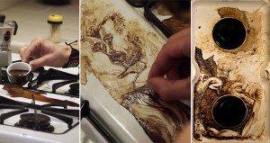 Vanni Mangoni Coffee Spills Art