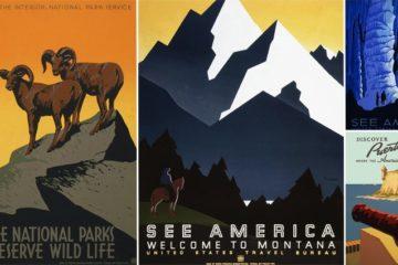 Vintage Travel Posters America