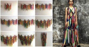Waste Fabric Curtains Dresses
