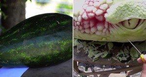 Watermelon Transforms Into Dragon