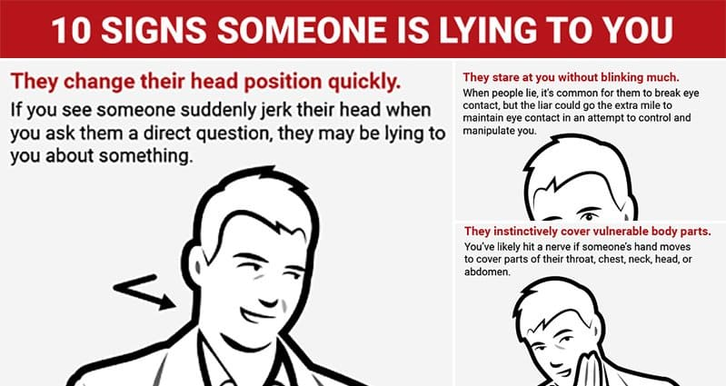 how can i tell if someone is lying
