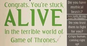 Would You Survive In Game Of Thrones