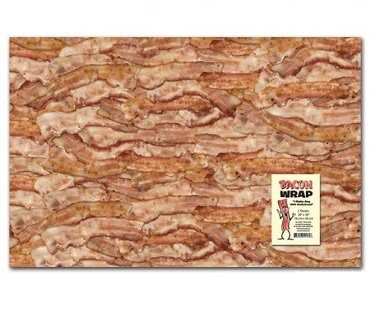 bacon gift wrap paper