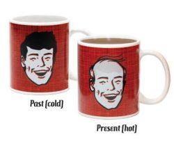 bald head heat changing mug