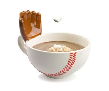 baseball mug with glove