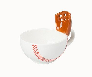 baseball mug with glove cup