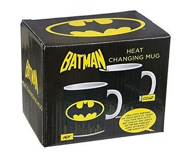 batman heat changing mug box