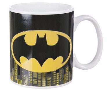 batman heat changing mug logo