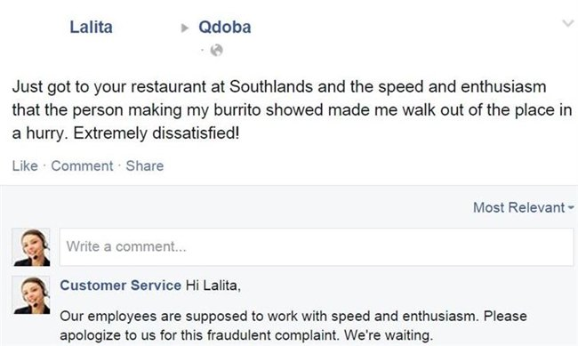 12 customers trolled by a fake customer service rep