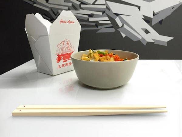 bowl floating chopsticks