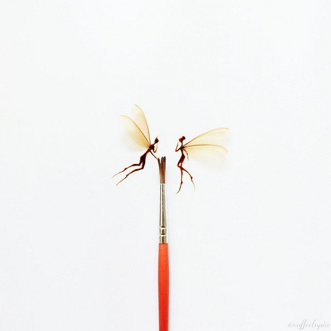brush coffee fairies
