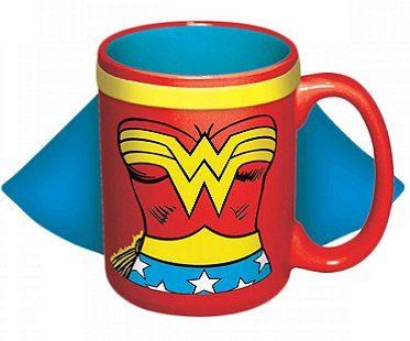 caped wonder woman mug