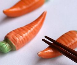 carrot chopstick rests