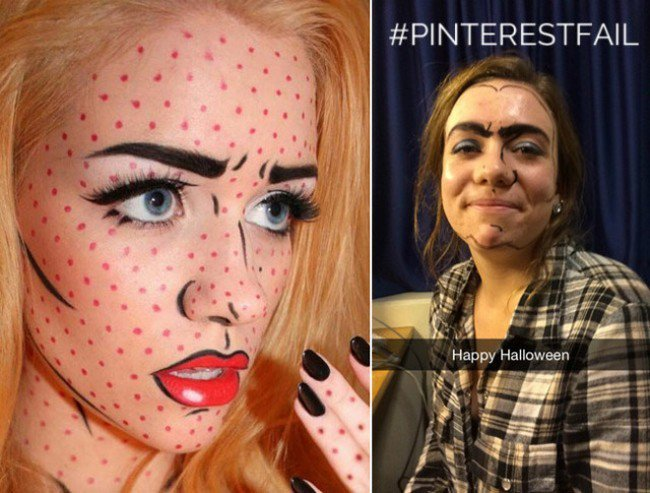 cartoon make up fail