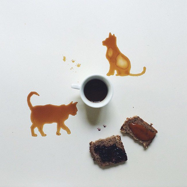 cat dog coffee