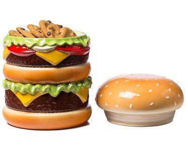 cheeseburger cookie jar lid