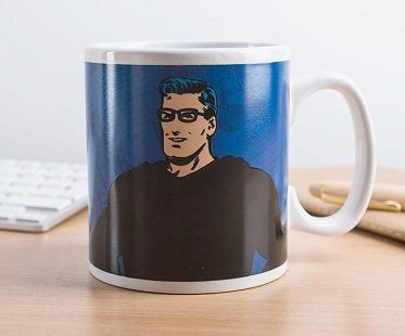clark kent superman heat changing mug
