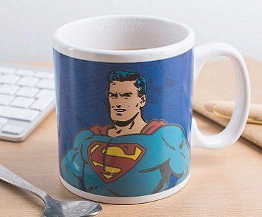 clark kent superman heat changing mug coffee
