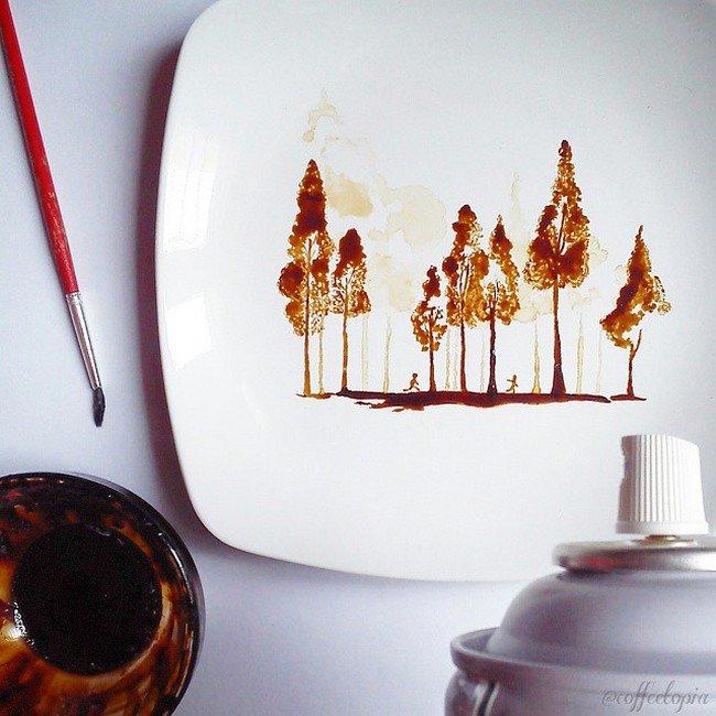 coffee tree plate