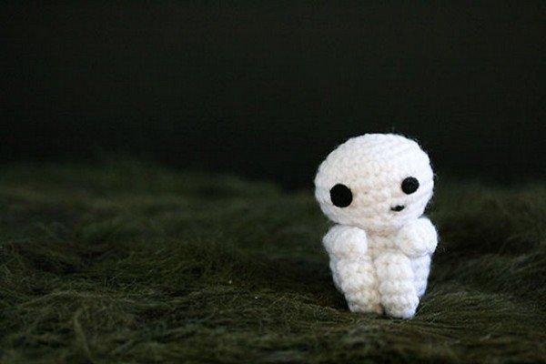 crochet white figure