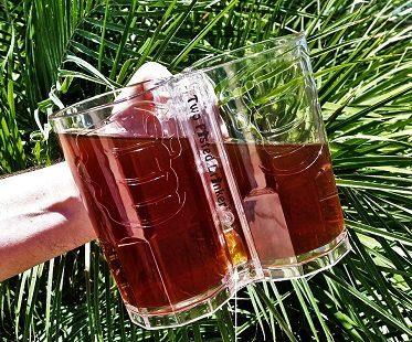double beer mug glass