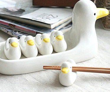 duck chopstick rest set