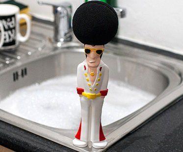 elvis washing up sponge