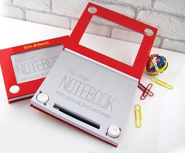 etch a sketch notebook