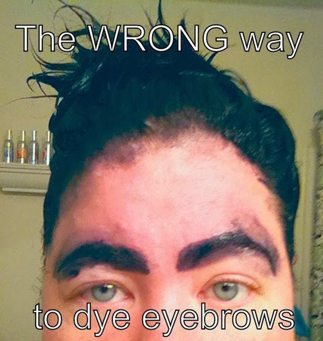 eyebrow dye fail