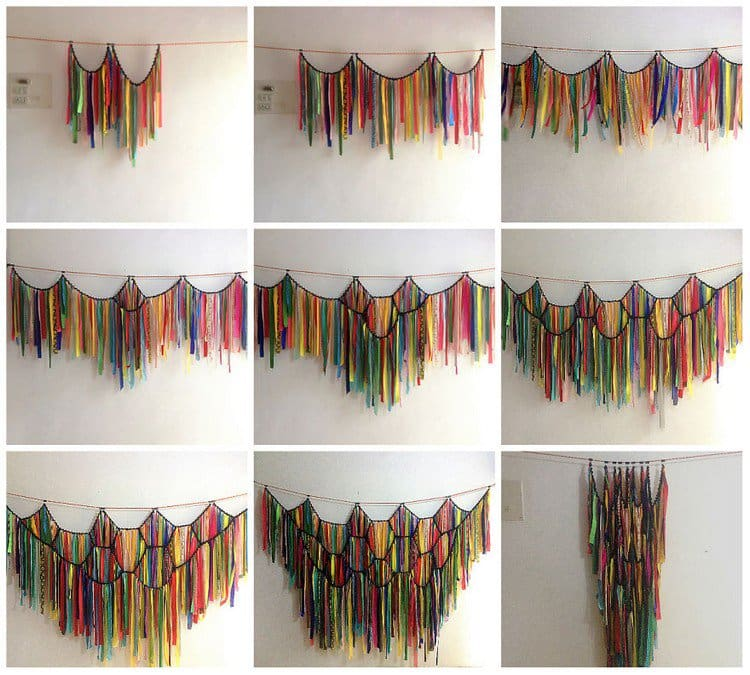 Fabric strip curtain