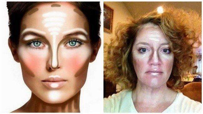 facial contouring fail