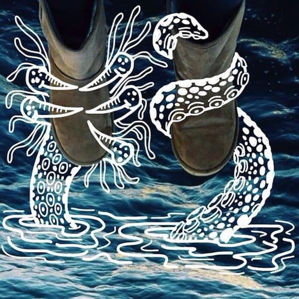 feet-sea