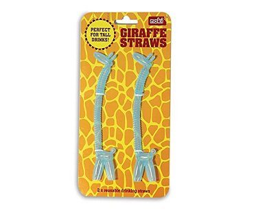 giraffe straws blue pack