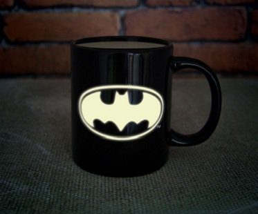 glow in the dark batman mug