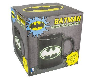 glow in the dark batman mug box