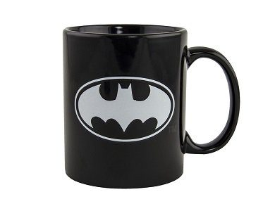 glow in the dark batman mug logo