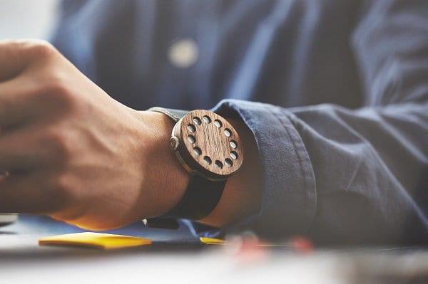 grovemade wood watch wrist