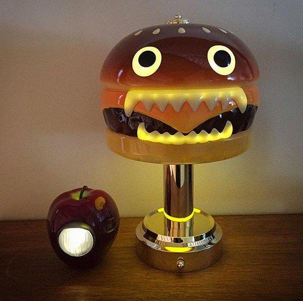 hamburger apple lamps