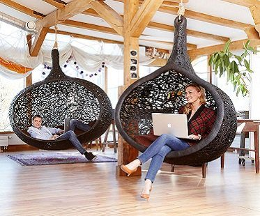 hanging cocoon chair inside